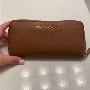 Michael Kors Jet set wallet in Cognac